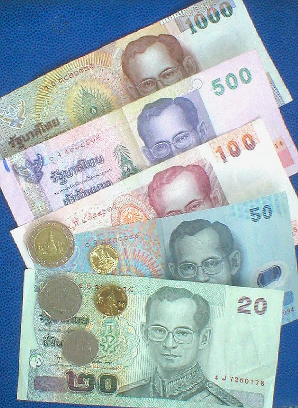 タイバーツ... On Thailand Money - Baht - Currency