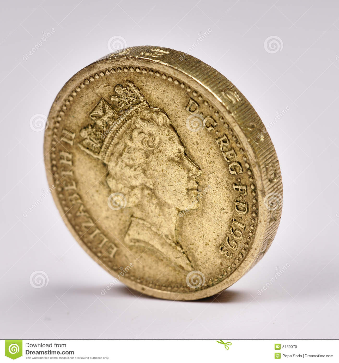 イギリスポンドThe photo of the one pound sterling.
