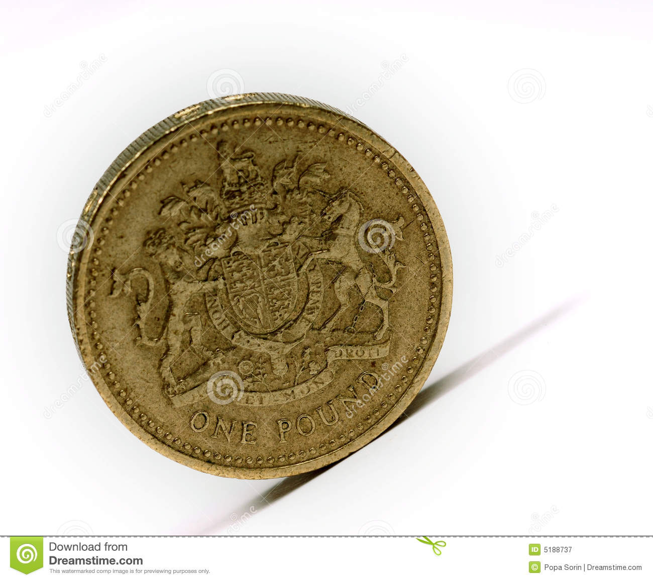 イギリスポンド... Free Stock Photography: One pound sterling