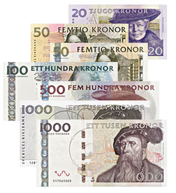 スウェーデンクローナswedish krona svensk krona swedish