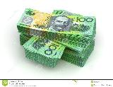 オーストラリアドルStack of Australian Dollar ( with clipping ...
