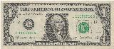 アメリカドル... United States one dollar bill, series 2003